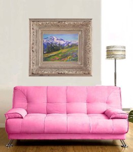 Add pictures of your art in a room setting to sell art online